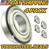 (4 Pk) Front Wheel Bearings John Deere F911 F912 F915 F925 w/ STEEL SEALS 25mm